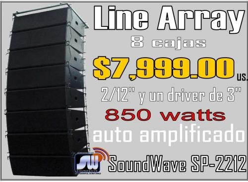 8 parlantes line array sp-2212