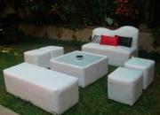 Renta de Salas Lounge con cojines desde $350 San pedro