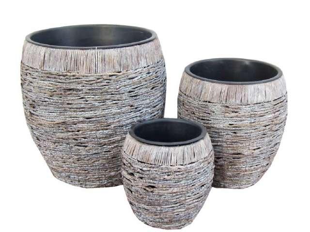 Pin macetas en fibra de coco con adherente biodegradables - Macetas de fibra de vidrio ...