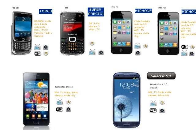 Celulares chinos hiphone galaxy buen precio negocio en Distrito