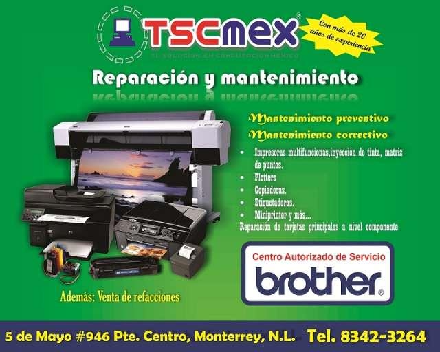 Reparacion de impresoras brother en monterrey