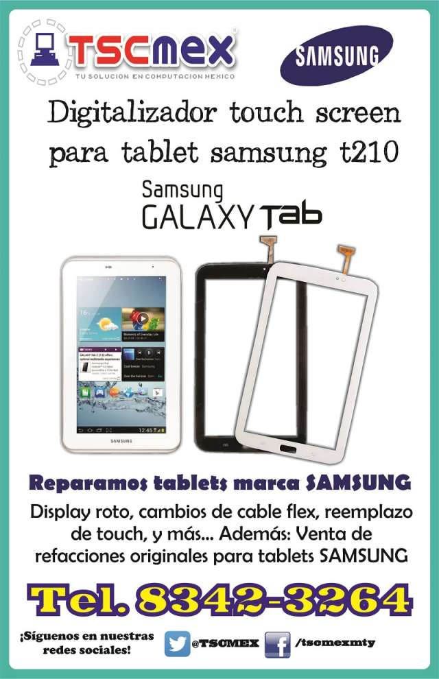 Touch original para tablet samsung t210