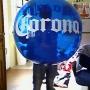 Globos gigantes tipo pelota con su publicidad