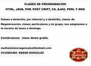Clases y asesorias a domicilio de java  sql php html