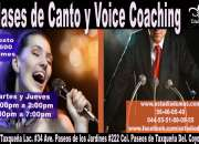 Clases de canto y voice coaching