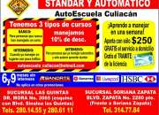 Cursos de manejo en autoescuela de manejo culiacan contrata aqui