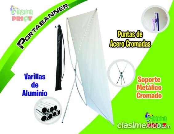 Portabanner de aluminio (displays, x banner, araña) somos fabricantes