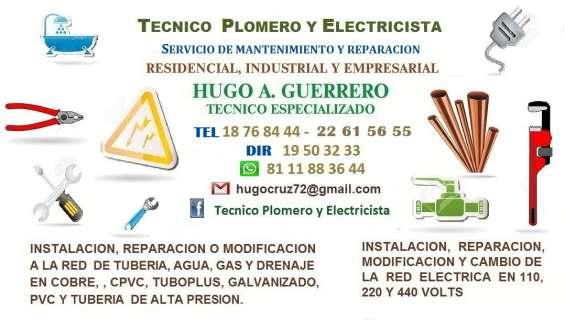 Electricista tecnico especializado los 365 dias