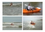 Kayak inflable que se hace mochila. AMIBOTE