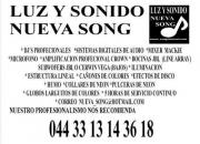 Luz y sonido buena musica en guadalajara jalisco  044 3313143618