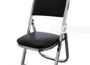 Venta de sillas infantiles plegables acojinadas en cromo tapiz vinil negro