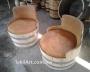 Mesas y sillas rústicas de roble Casa o jardín