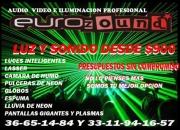 LUZ Y SONIDO EN GUADALAJARA, Y KARAOKE DESDE $900 EUROZOUND!! 33 11 94 16 57