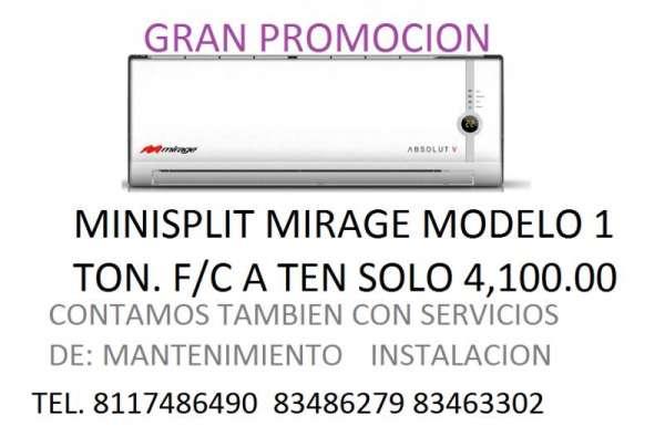 Mini split mirage 1 ton frio/calor