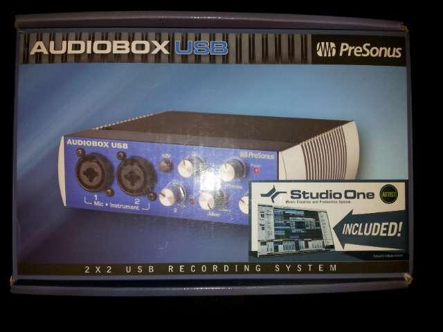 Presonus audiobox interfaz de audio grabacion usb