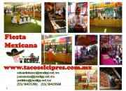 fiesta mexicana, taquiza mexicana, taquiza a domicilio para eventos df