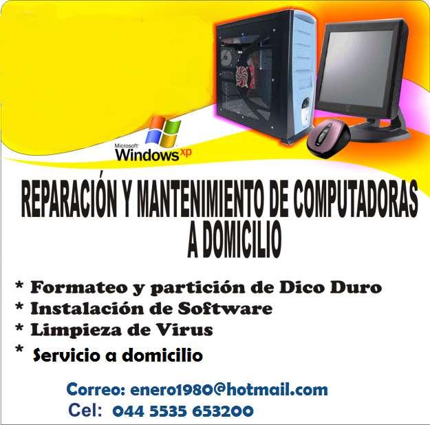 Reparación de computadoras a domicilio, informes al 5535653200