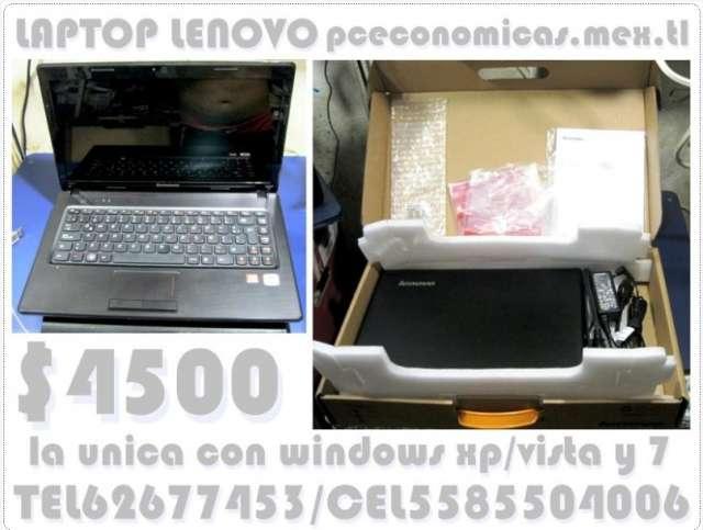 Lenovo la unica con win xp vista y seven en la misma laptop
