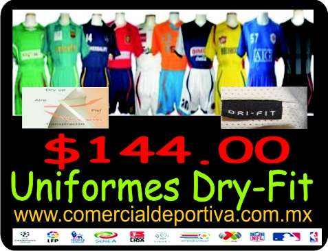 Uniformes de futbol dry-fit desde  144.00 en existencia! en La ... 613458d9bffcf