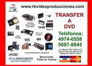 Transferencia Videos a DVD (analogo a digital) -8mm,16mm, VHS, Beta, Hi8, Mini dv- Mexico DF