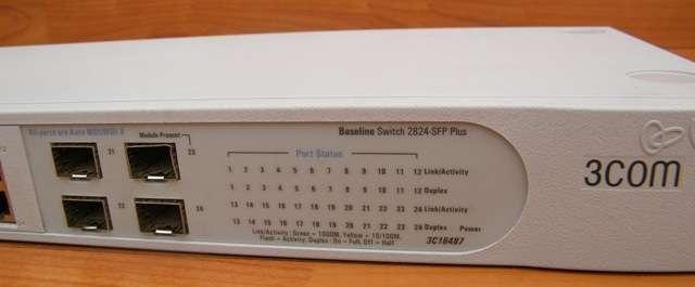 Vendo 3com baseline 2824 sfp plus 3c16487