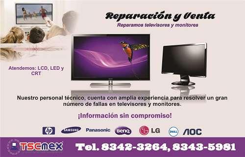Reparacion a televisores y monitores