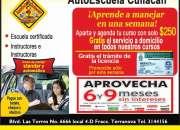 escuela de manejo culiacan PROMOCIONES!!!!