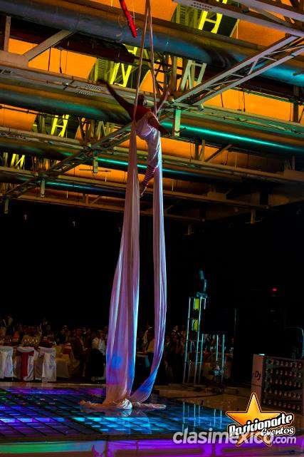 Show de danza aérea para eventos en ciudad de méxico