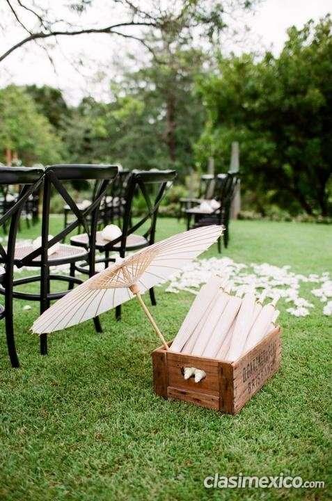 Sombrillas de bambú para bodas