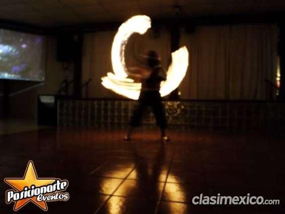 Show de fuego para eventos de navidad en ciudad de méxico