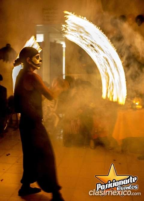 Show de fuego para halloween, eventos día de muertos en ciudad de méxico