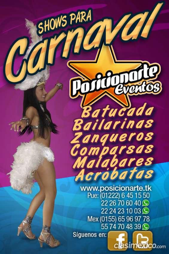 Shows para carnaval en guerrero: batucada, zanqueros, bailarinas