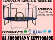 Renta Juego Brincolin Trampolín Tumbling de 3.80 Metros Tultitlan Coacalco Tultepec