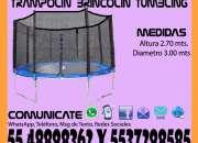 Renta Juego Brincolin Trampolín Tumbling de 3 Metros Tultitlan Coacalco Tultepec