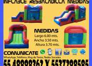 Renta Juego Inflable Resbaladilla Con Cubo Tultitlan Coacalco Tultepec