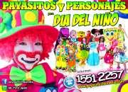 Payasos y personajes para dia del niño - cdmx/edomex