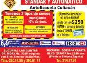 Autoescuela Culiacan, cursos con descuento