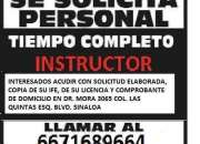 Se solicita instructor (a) de manejo