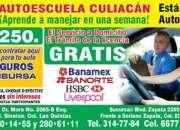 Aparta HOY tus clases de manejo en AutoEscuela Culiacán