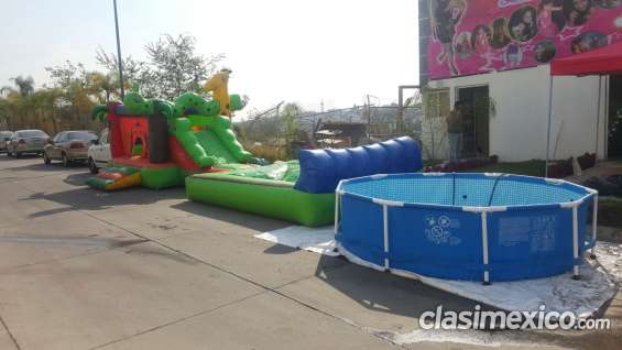 Piscina armable e inflable