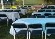 Renta de Tablón con 10 sillas
