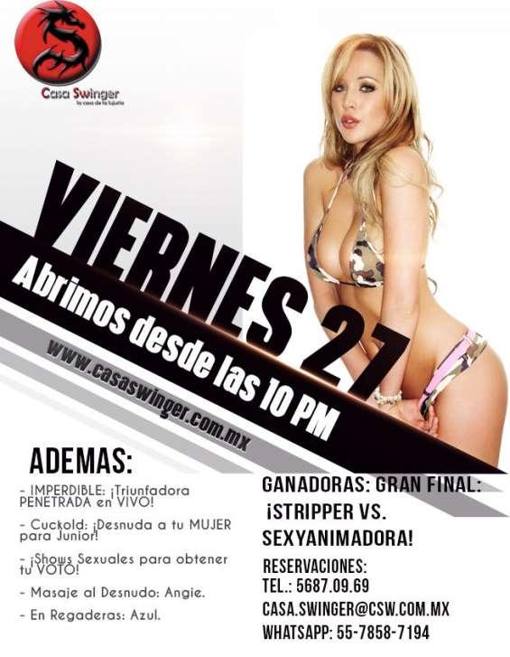 Viernes 27 en csw: gran final: ¡stripper vs. sexyanimadora!