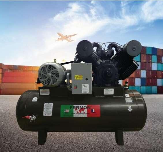 Compresor de 20 hp tanque de 500 horizontal trifasico