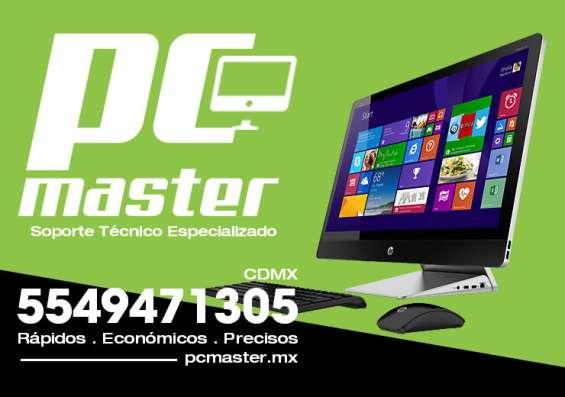 Soporte y asistencia técnica a computadoras pc, laptops, servidores de red, cctv.