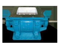 Valvula rotativa bridas cuadradas, fabricada en acero al carbón