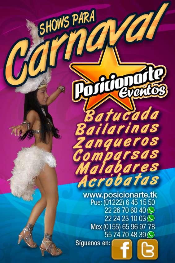 Show carnaval batucada samba y desfiles en oaxaca