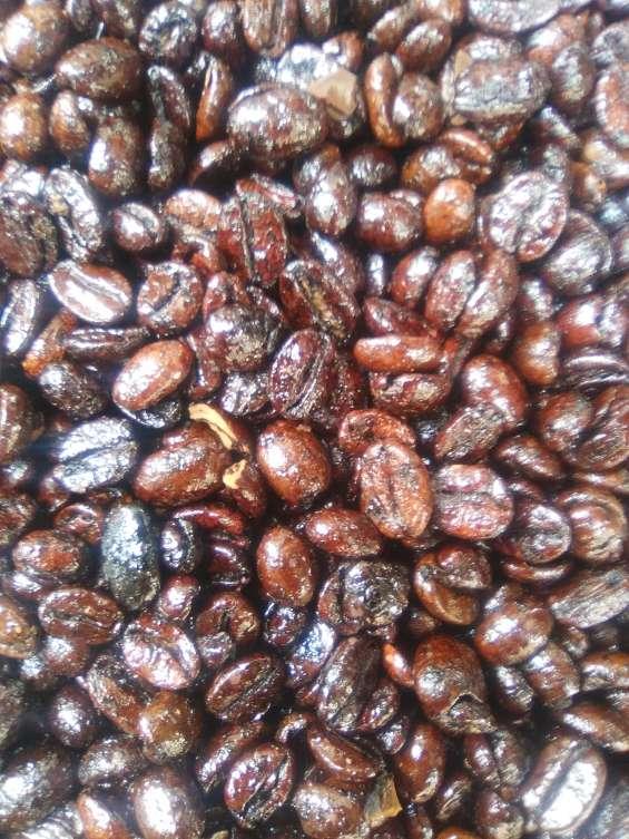 Cafe en grano tostado caramelizado