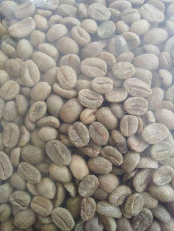Cafe oro natural en verde seleccionado