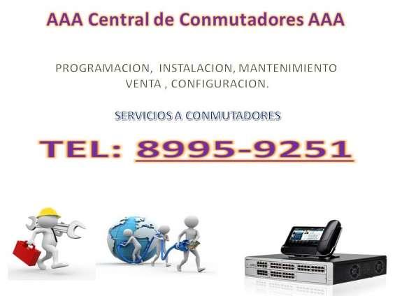 Reparacion de conmutadores, interfonos instalacion, venta y servicio de mantenimiento