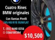 Juego de 4 llantas pirelli y rines bmw/245/40/r18 runflat originales